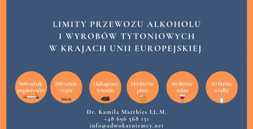 Limity przewozu alkoholu i wyrobów tytoniowych w Krajach Unii Europejskiej (2)
